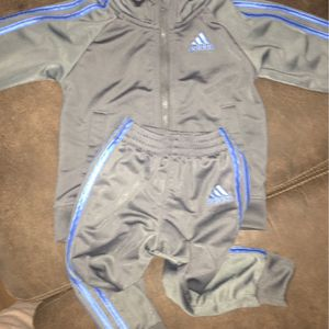 Baby Boy Adidas Outfit Grey/blue for Sale in Westport, WA
