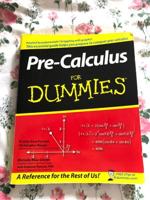 Pre-Calculus for Dummies Book for Sale in Arlington, TX