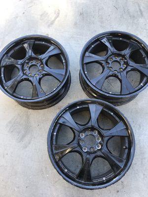 3 -18inch black rims for Sale in Richmond, CA