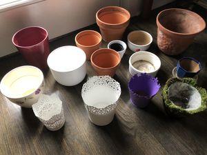 15 flower pots for $20 for Sale in Arlington, VA