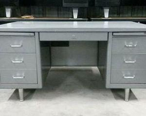 Vintage Industrial Tanker Metal Desk for Sale in Salt Lake City, UT