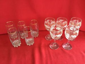 Gold-Trimmed Glassware (10 pieces) for Sale in Tampa, FL