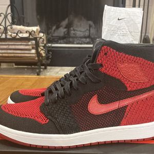 Jordan 1 Retro High Flyknit Bred Size 10 for Sale in Chicago, IL