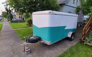 Camper cargo utility enclosed trailer solar 12ft price 1000$ for Sale in San Francisco, CA