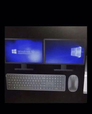Dell computer with 2 monitors for Sale in Baldwin Park, CA