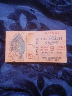 Dodgers ticket stub 1967 for Sale in Azusa, CA