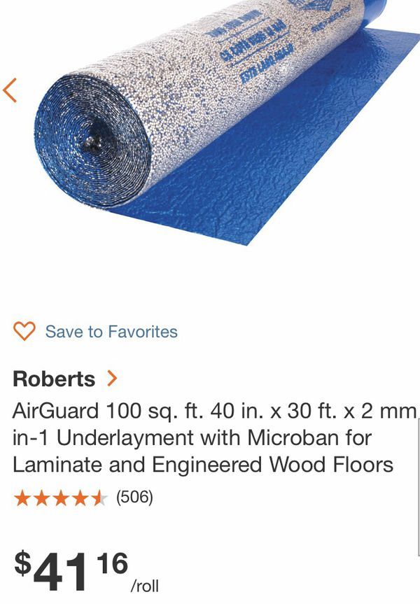 UNDERLAYMENT 3 100 sq ft rolls