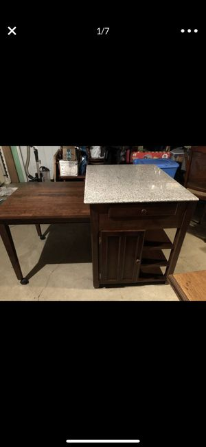 Beautiful Kitchen Island with pull out table Made in Malaysia for Sale in Pittsburgh, PA