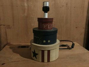 Decorative Americana lamp with no shade for Sale in Columbus, OH