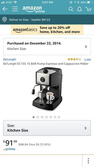 DeLonghi espresso coffee maker for Sale in Seattle, WA