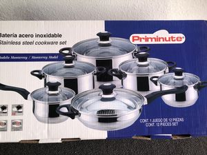 Priminute Stainless steel 12 Pc cookware set for Sale in Garden Grove, CA