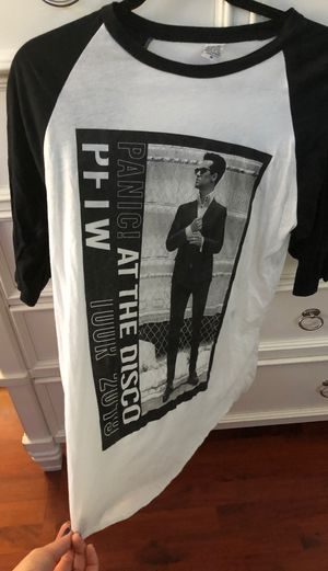 Panic at the disco baseball tee size medium for Sale in Irvine, CA