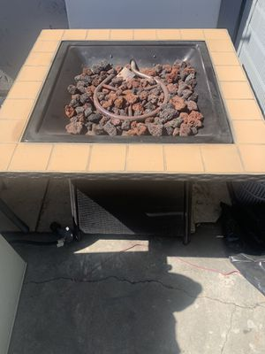 Fire pit is propane works good asking 240 for Sale in Irwindale, CA