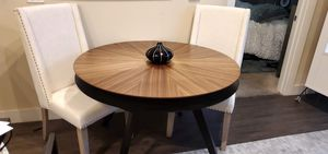 """47"""" Round 2 layer Dining table. GREAT for Family Game Night (Monopoly money, poker chips, or plate place settings) - orig $600 for Sale in Dallas, TX"""