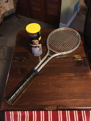 Vintage tennis racket and balls for Sale in West Mifflin, PA
