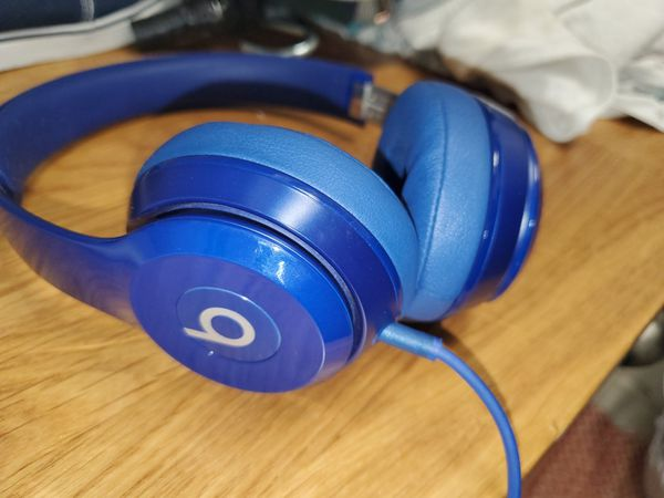 Blue Dr. Dre Beats Headphones