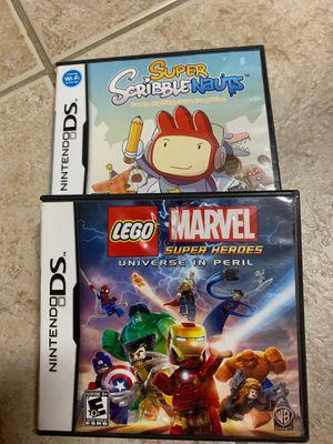 Nintendo DS Games LEGO Marvel Super Hero's and Scribblenauts for Sale in Davenport, FL