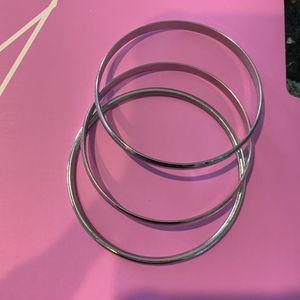 3 Silver Bangle Bracelets for Sale in Chino, CA