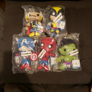 New Disney Marvel Funko Plushie Set Of 5 for Sale in Lawndale, CA