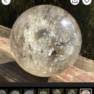 Citrine Clear Crystal Ball for Sale in Las Vegas, NV