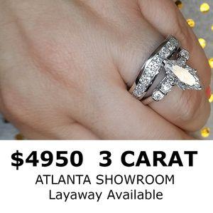 3 carat certified diamond ring set for Sale in Atlanta, GA