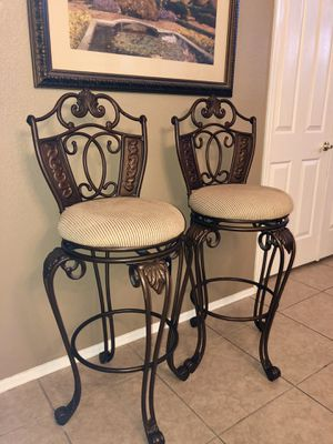 2 COUNTER BAR STOOLS SWIVEL CHAIRS for Sale in Chandler, AZ