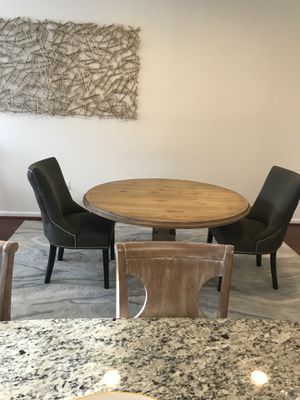 Sturdy Dining room table & 2 tufted chairs for Sale in Philadelphia, PA