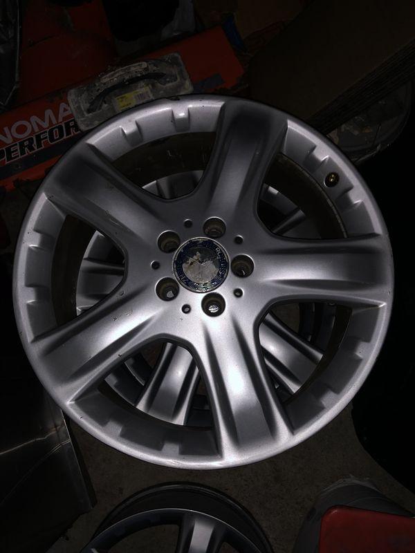 "Set of Four Mercedes Benz Oem Wheels 19"""