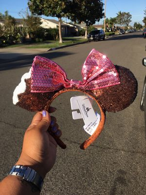 BRAND NEW AUTHENTIC MINNIE MOUSE DISNEY EARS BITTEN ICE CREAM THEMED for Sale in San Diego, CA