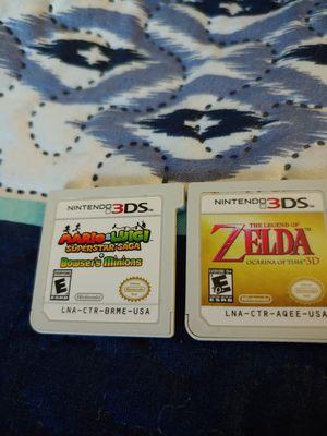 Nintendo 3ds Mario & Luigi Bowser minions and Zelda both work fine for Sale in Dallas, TX