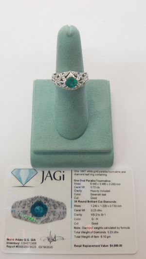 Paraiba Tourmaline & Diamond 18kt Gold Ring for Sale in San Diego, CA