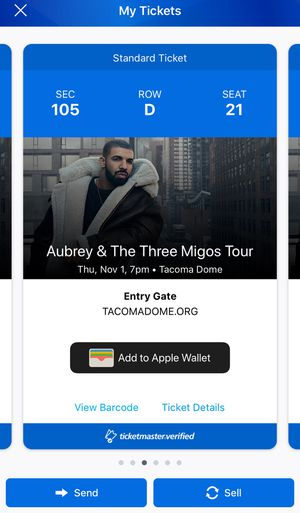 DRAKE + MIGOS TICKETS - $208 for Sale in Seattle, WA