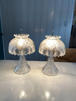 Vintage crystal floral table lamps for Sale in Long Beach, CA