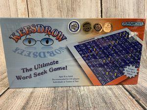 Keesdrow The Ultimate Word Seek Game for Sale in Jonestown, PA