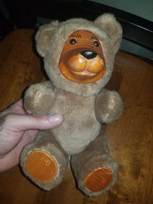 Small stuffed wooden bear collectible for Sale in North Las Vegas, NV