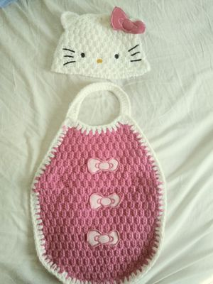Hello kitty crochet prop outfit. Brand new for Sale in Bakersfield, CA