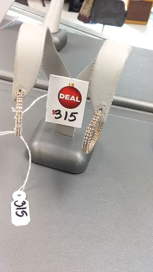 10k diamond hoop earrings for Sale in Houston, TX