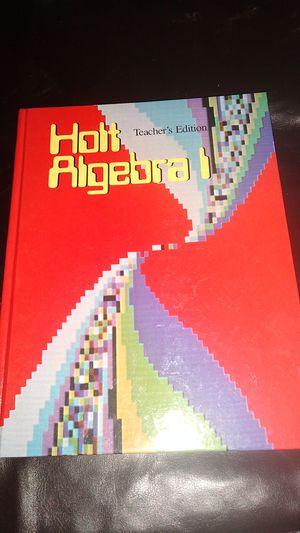 Holt Algebra I Teachers Edition for Sale in KINGSVL NAVAL, TX