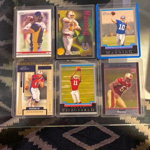 6 Football Rookie Cards / Cards are in great shape for Sale in Gilroy, CA
