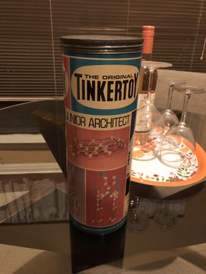 1972 antique vintage EDUCATIONAL TINKERTOY JUNIOR ARCHITECT. 18.00. 212 North Main Street Buda. Toys antique furniture collectibles sterling silver j for Sale in Buda, TX
