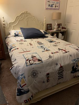 Full size bed, box spring, mattress and 2 sheet sets if interested for Sale in Bluffton, SC