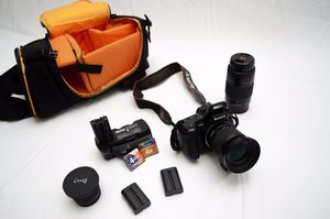 Sony Alpha 300 with Telephoto Lens and Great Accessories! for Sale in Davie, FL