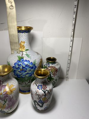 Chinese Cloisonné vase collection for Sale in St. Louis, MO