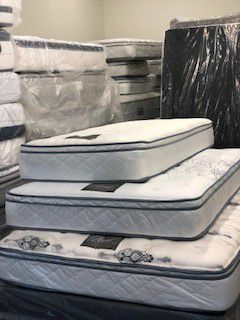 Twin, full and queen size bed Royal luxury collection, mattress new wrapped in plastic. for Sale in San Diego, CA