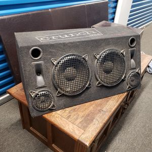 Crunch One Car Duel Subwoofer, Tweet and Mid Speakers for Sale in Washington, DC