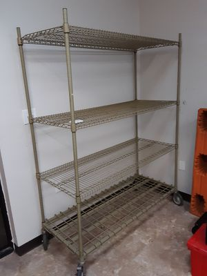 Rolling Metal Shelving Unit for Sale in Tampa, FL
