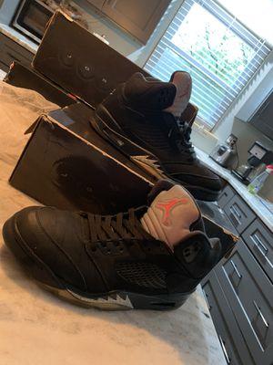 Nike Jordan 5 black metallic for Sale in Independence, OH