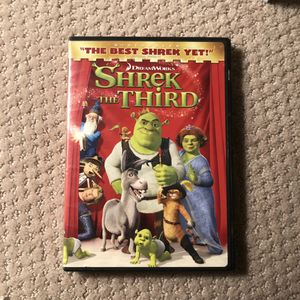 Shrek The Third Dvd Movie for Sale in Murrieta, CA