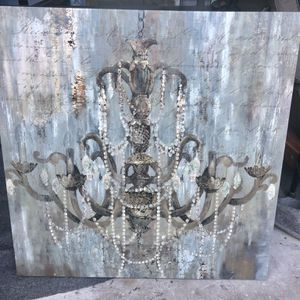 Lknew stunning chandelier canvas wall picture 30x30 for Sale in Fort Lauderdale, FL