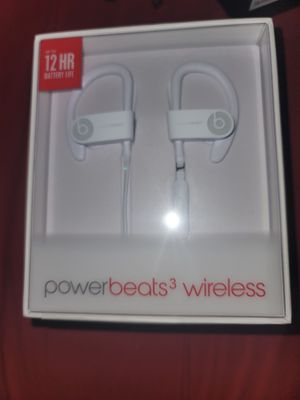 ×NEW× Beats by Dre Powerbeats3 White Wireless Bluetooth Headphones for Sale in Dayton, TX